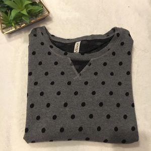 Pieces Polka Dot Sweatshirt